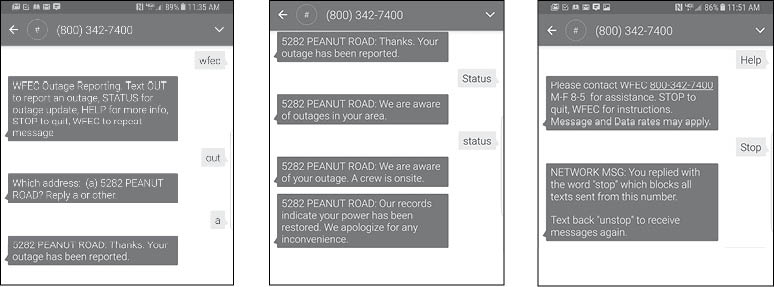 Power Out? Text Us!   Current Light Flashes   West Florida Electric